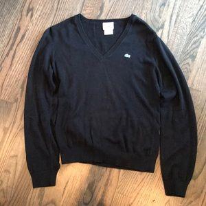 Lacoste Women's Cotton v-neck sweater